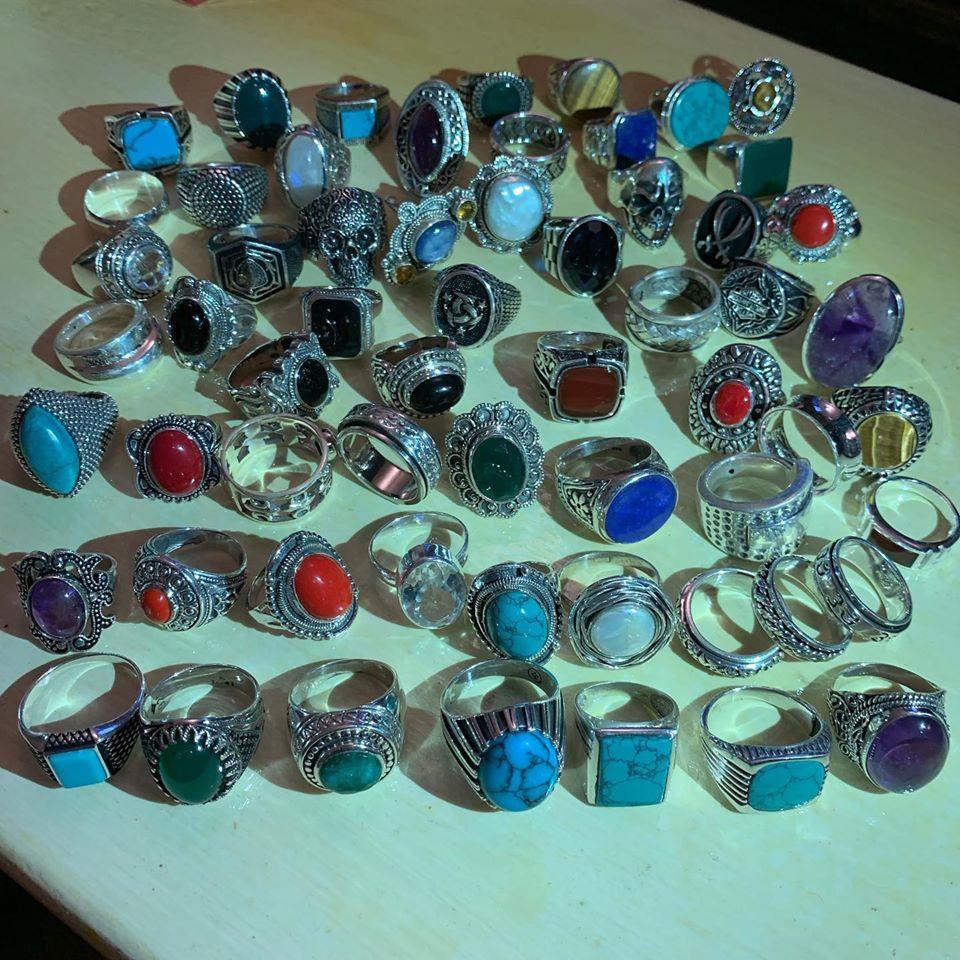 Anelli argento 925 e pietre semi preziose